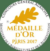 Médaille d'Or Cidre Kerné 2017