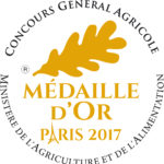 Médaille d'Or 2017 Cidre Kerné