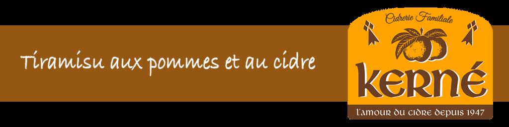 Recette Tiramisu aux pomme cidre
